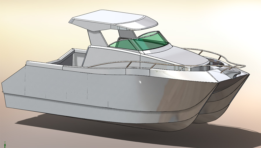 Aluminum Cat Boat Plans : Custom m alloy powercat interest the hull truth